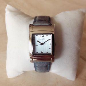 Kenneth Cole Blue Genuine Leather Watch